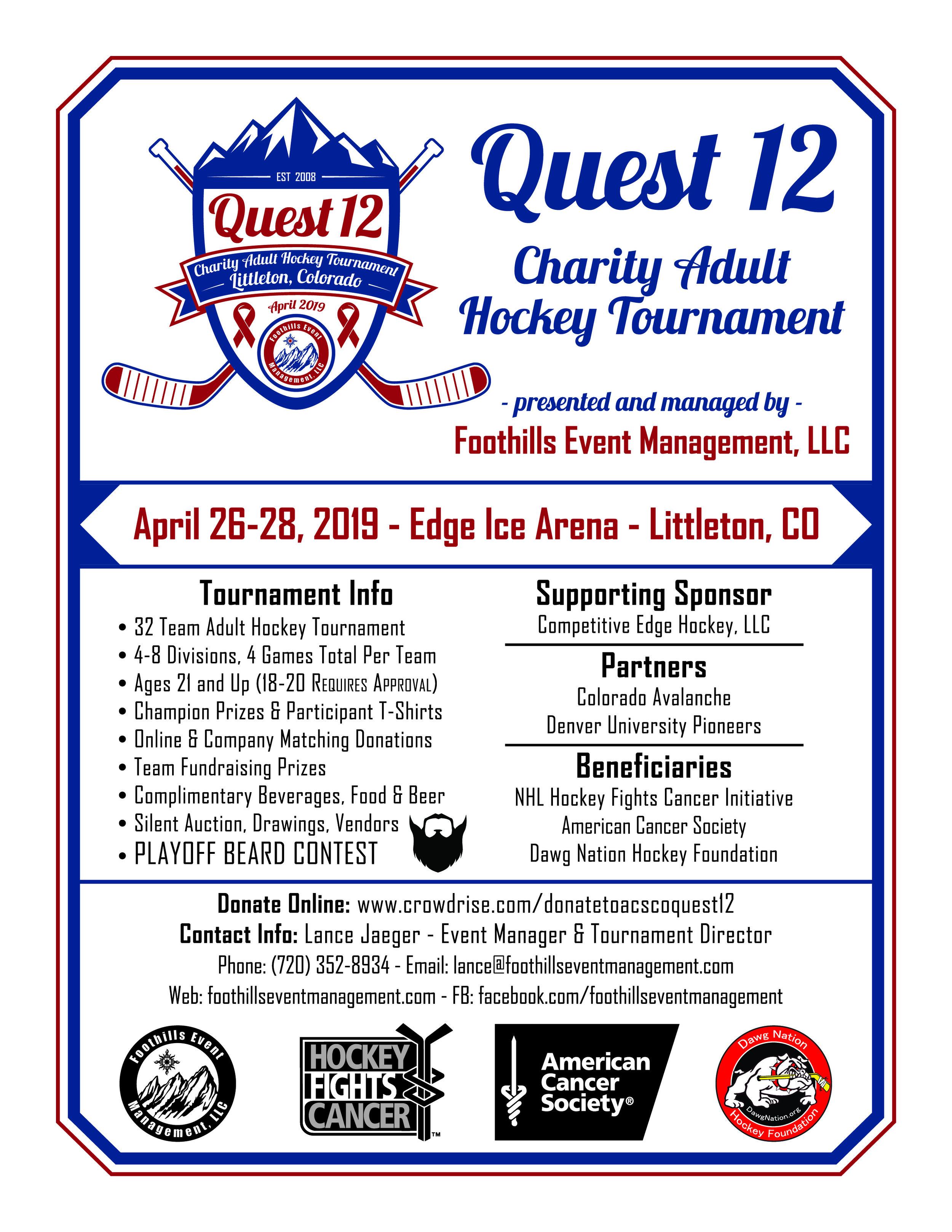 Quest 12 Promotional Flyer