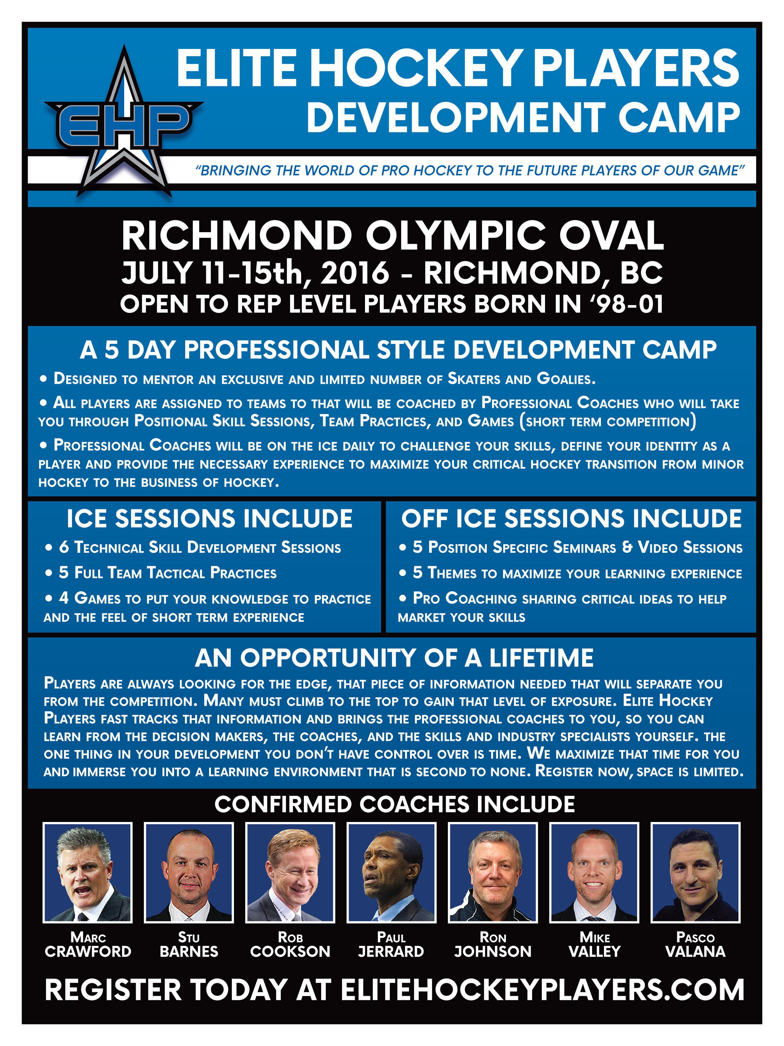 Elite Hockey Players Development Camp Poster