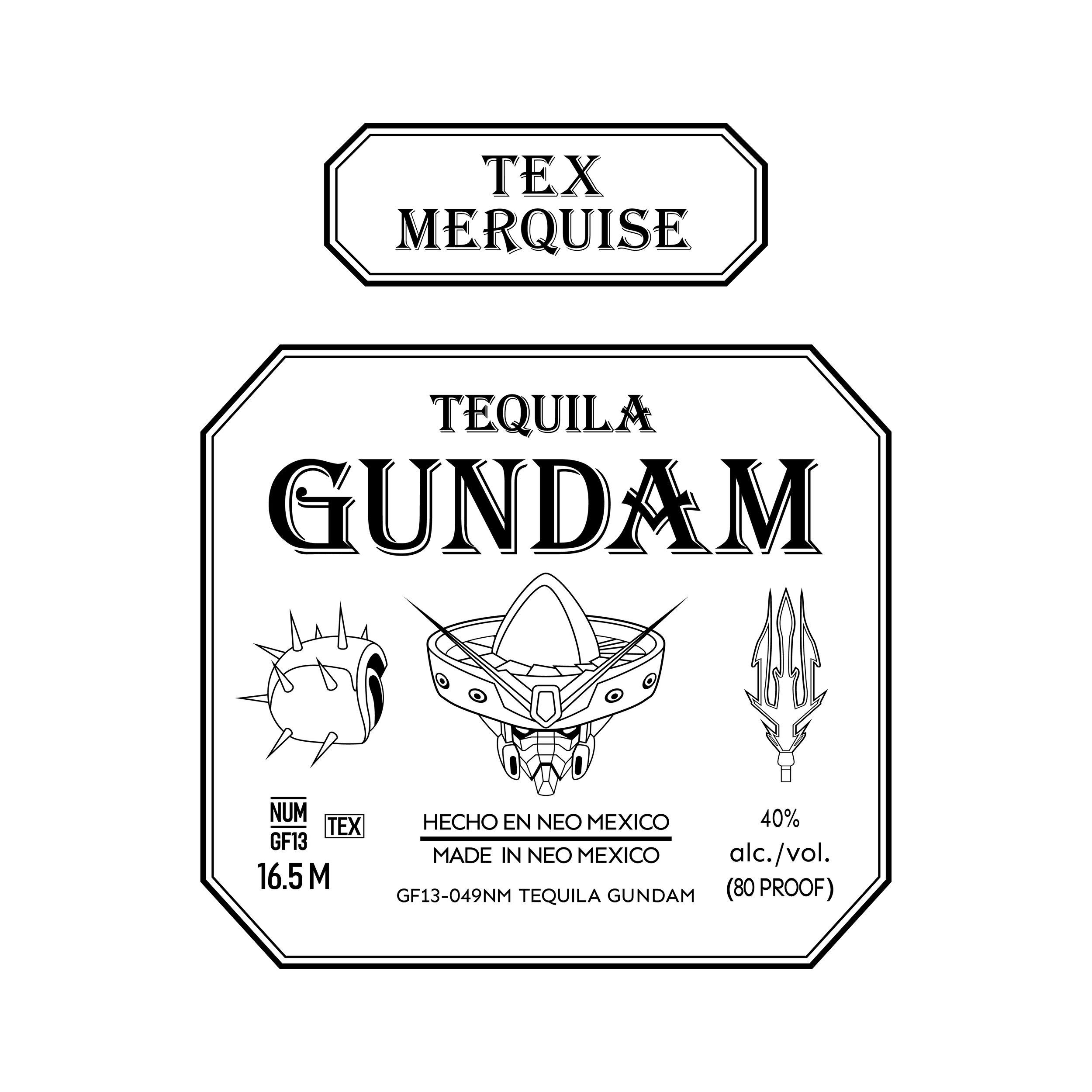 Tequila Gundam Label Graphic
