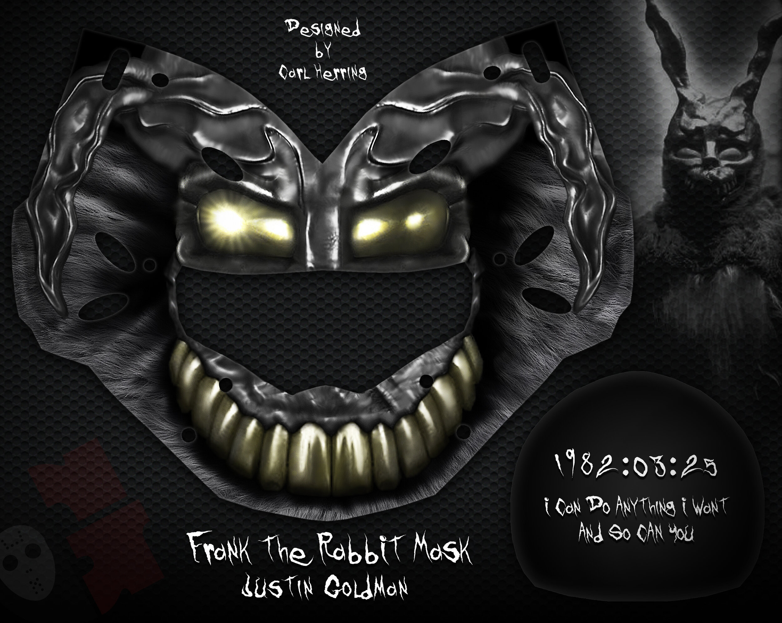 Justin Goldman Frank The Rabbit Mask Design