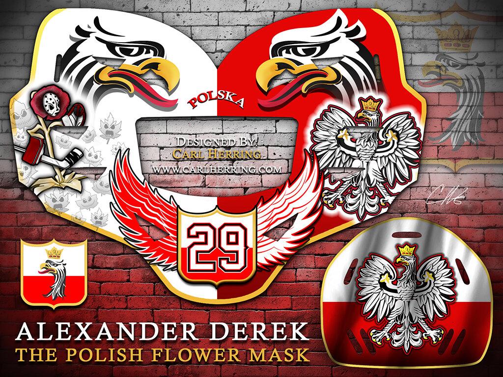 Alexander Derek Polish Flower Mask Design