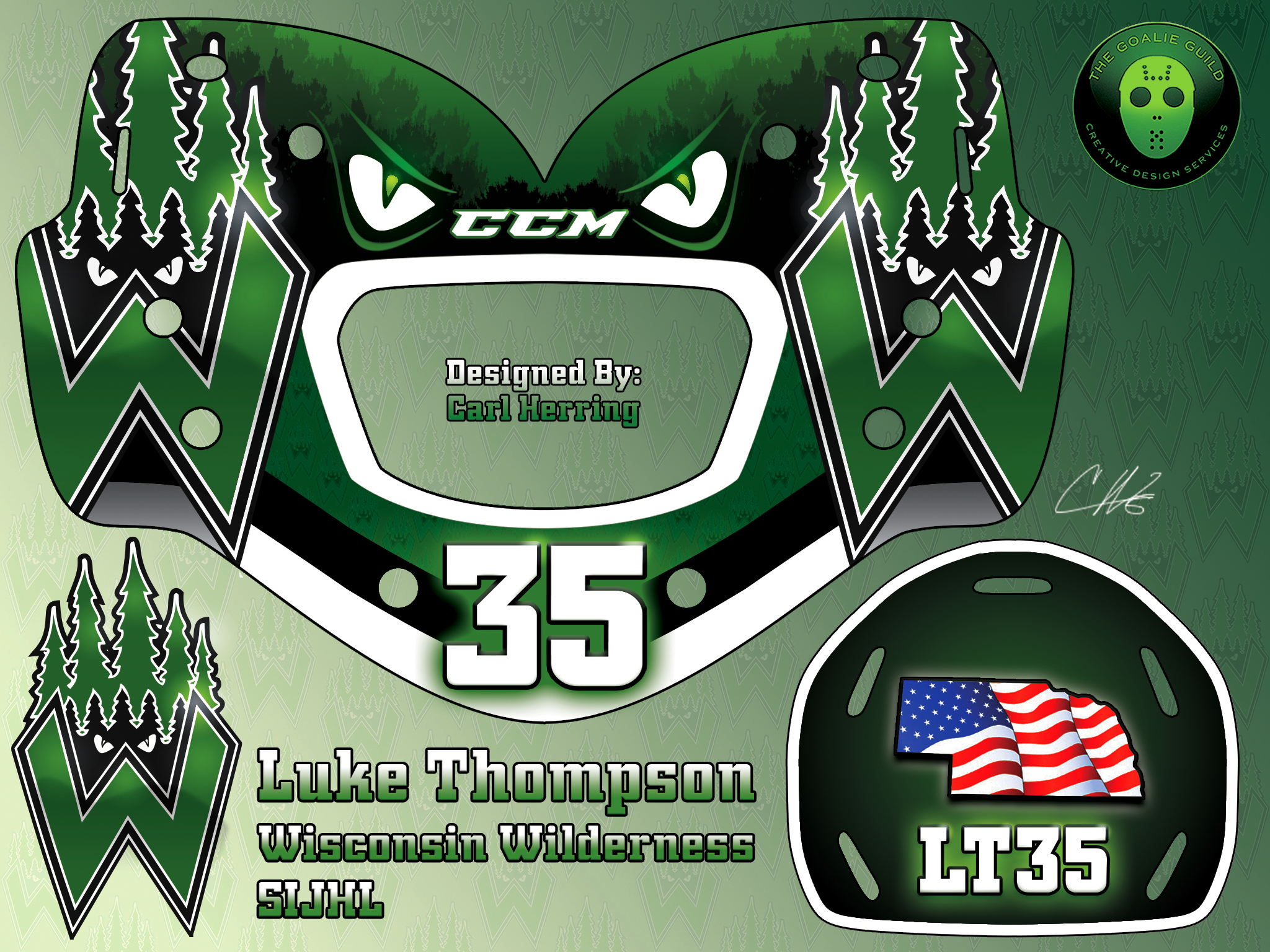 Luke Thompson Wenatchee Wild Mask Design