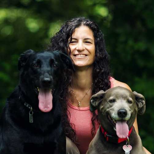 Janine and her two dogs