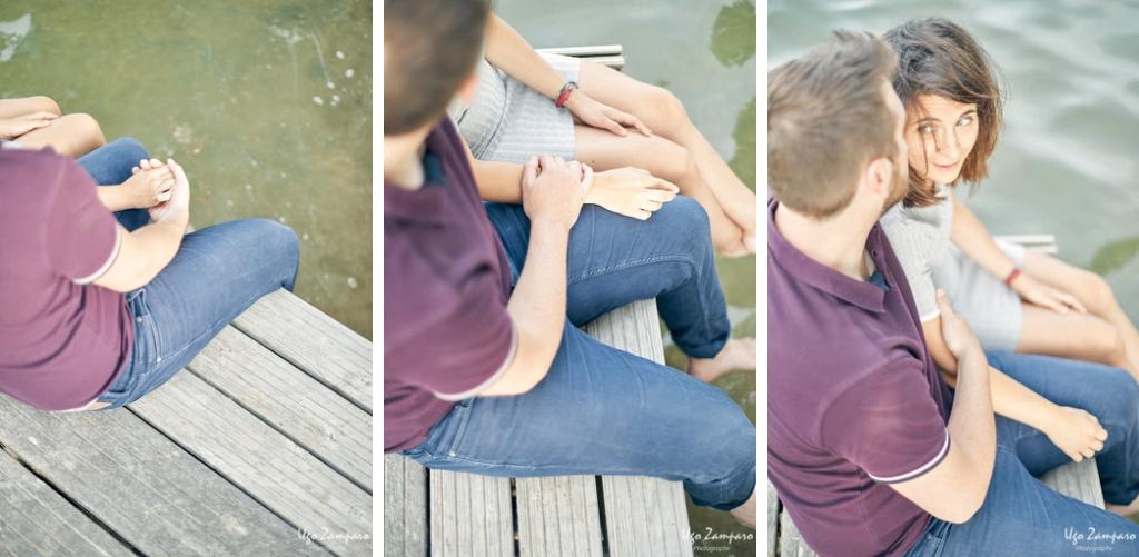 détail de couple au bord de l'eau - photographe la rochelle ile de ré