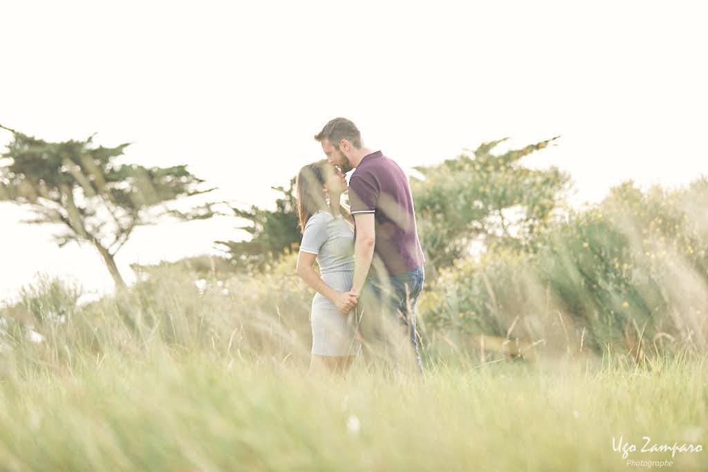 baiser sur le front - photographe la rochelle ile de ré