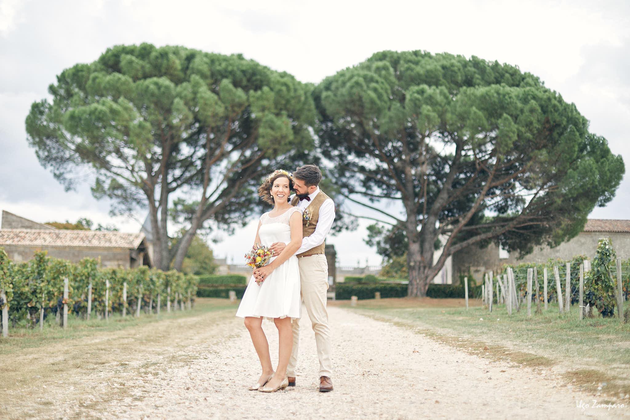 Photo de couple au Chateau Saint-George à Saint-Emilion