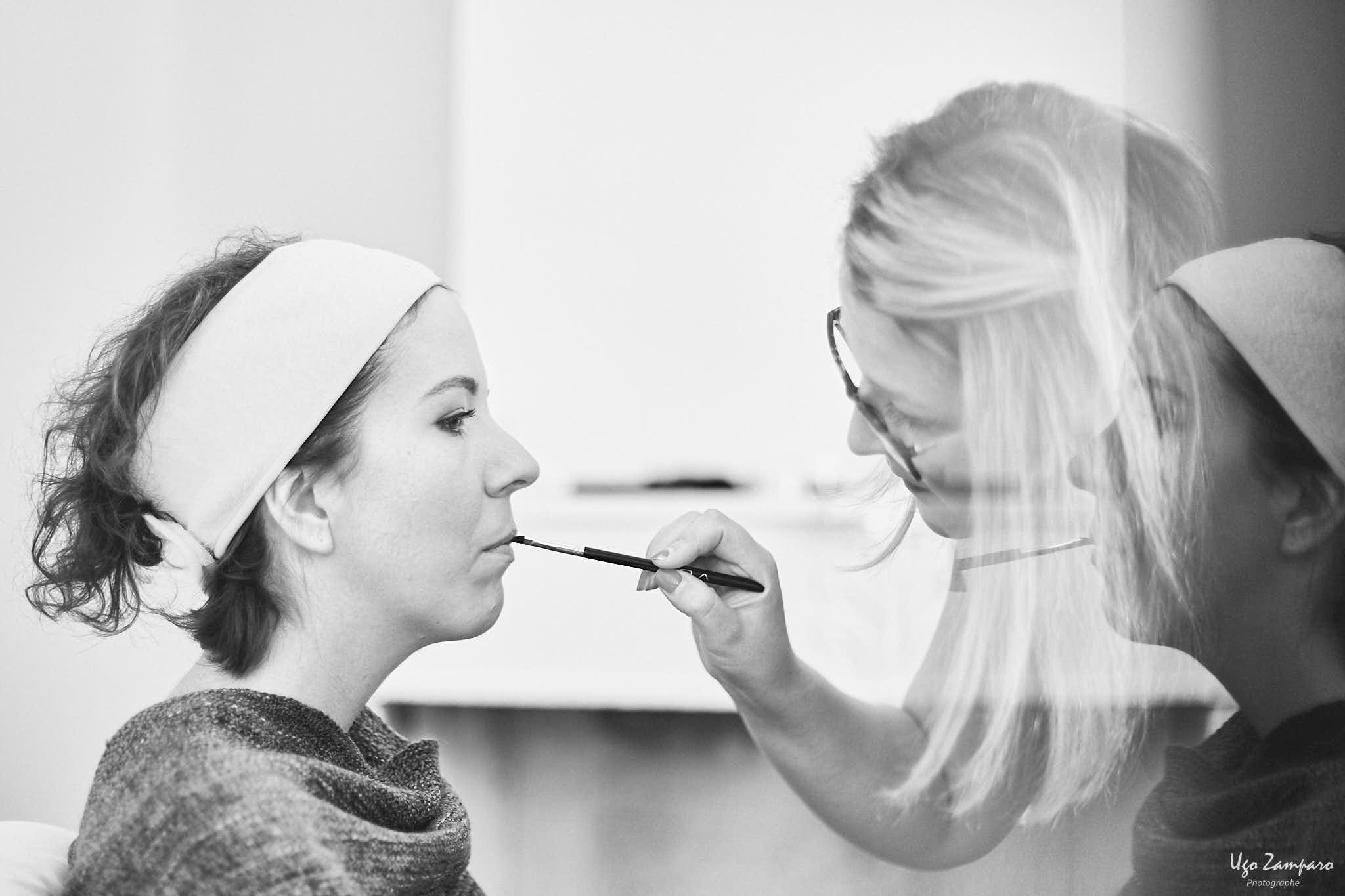 Maquillage de la mariée à proximité de Saint-Emilion