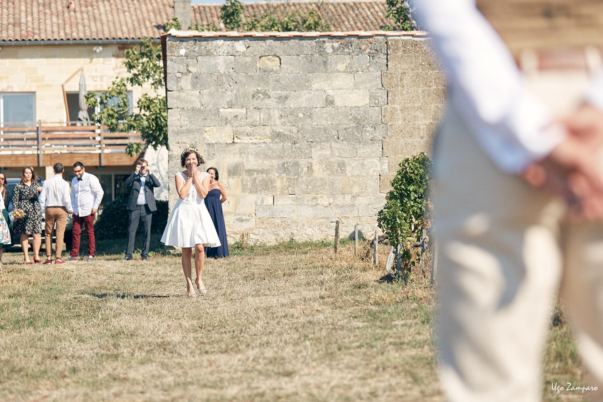 Le first-look des mariés !