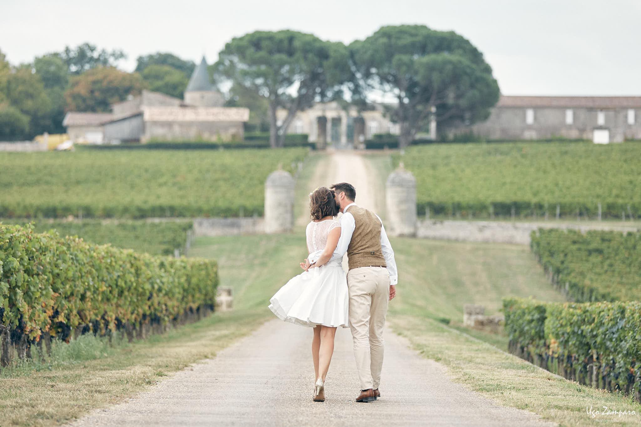 Photo de couple au Château Saint-Georges