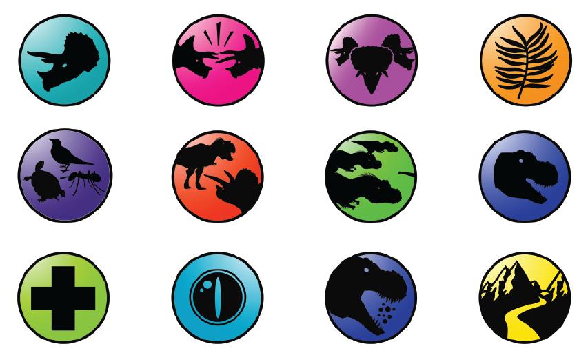 Be the Dinosaur navigation icons