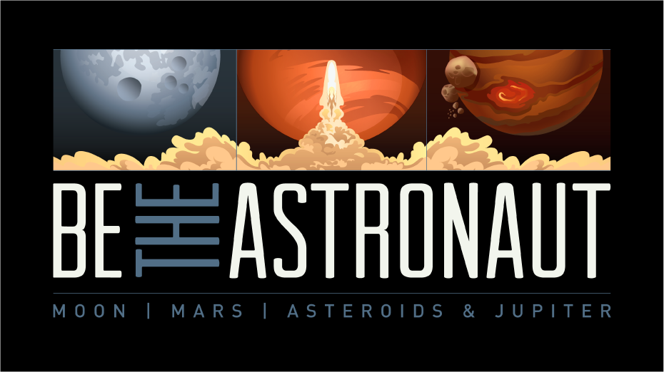 Be the Astronaut - Transform your exhibition space into a journey through outer space with a 3-station simulation game, combined with traditional exhibit items