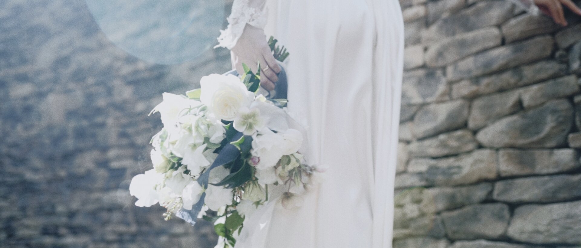 bride with bouquet at Montage Kapalua luxury wedding