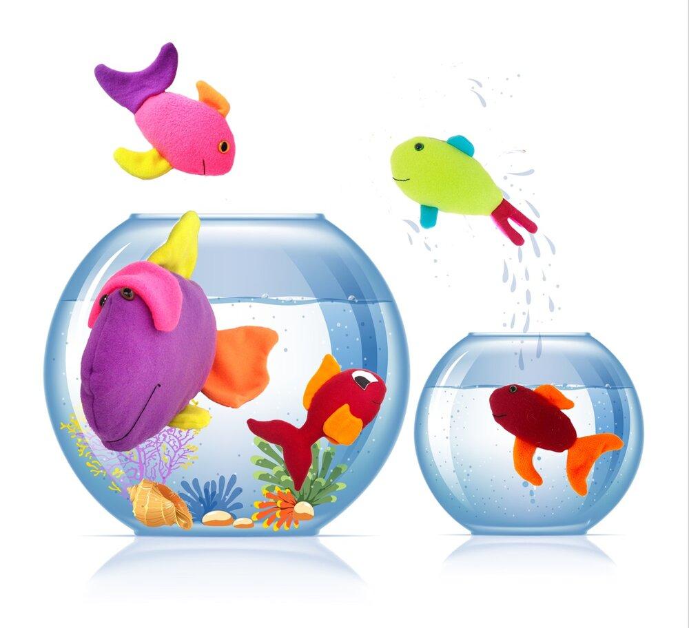 Gone Fishin' - Plush fish sewing patterns