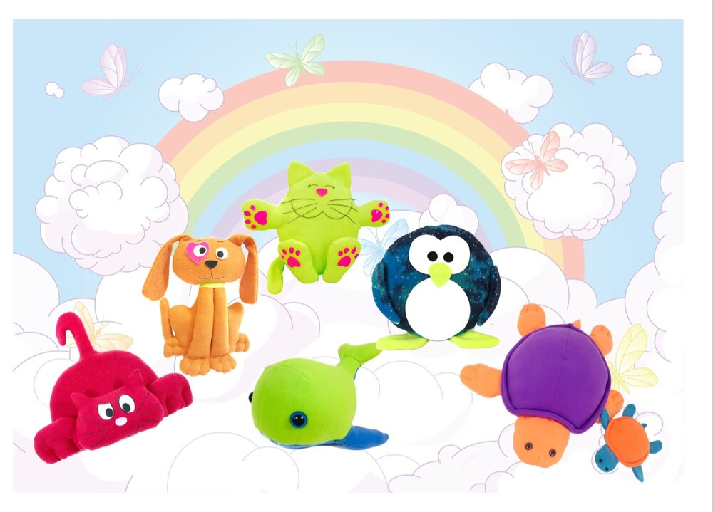 A rainbow of color - Stuffed animal patterns