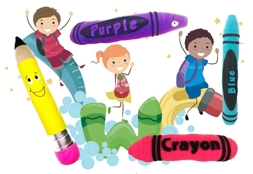 Life is about using the whole box of crayons - Plush crayon and pencil patterns