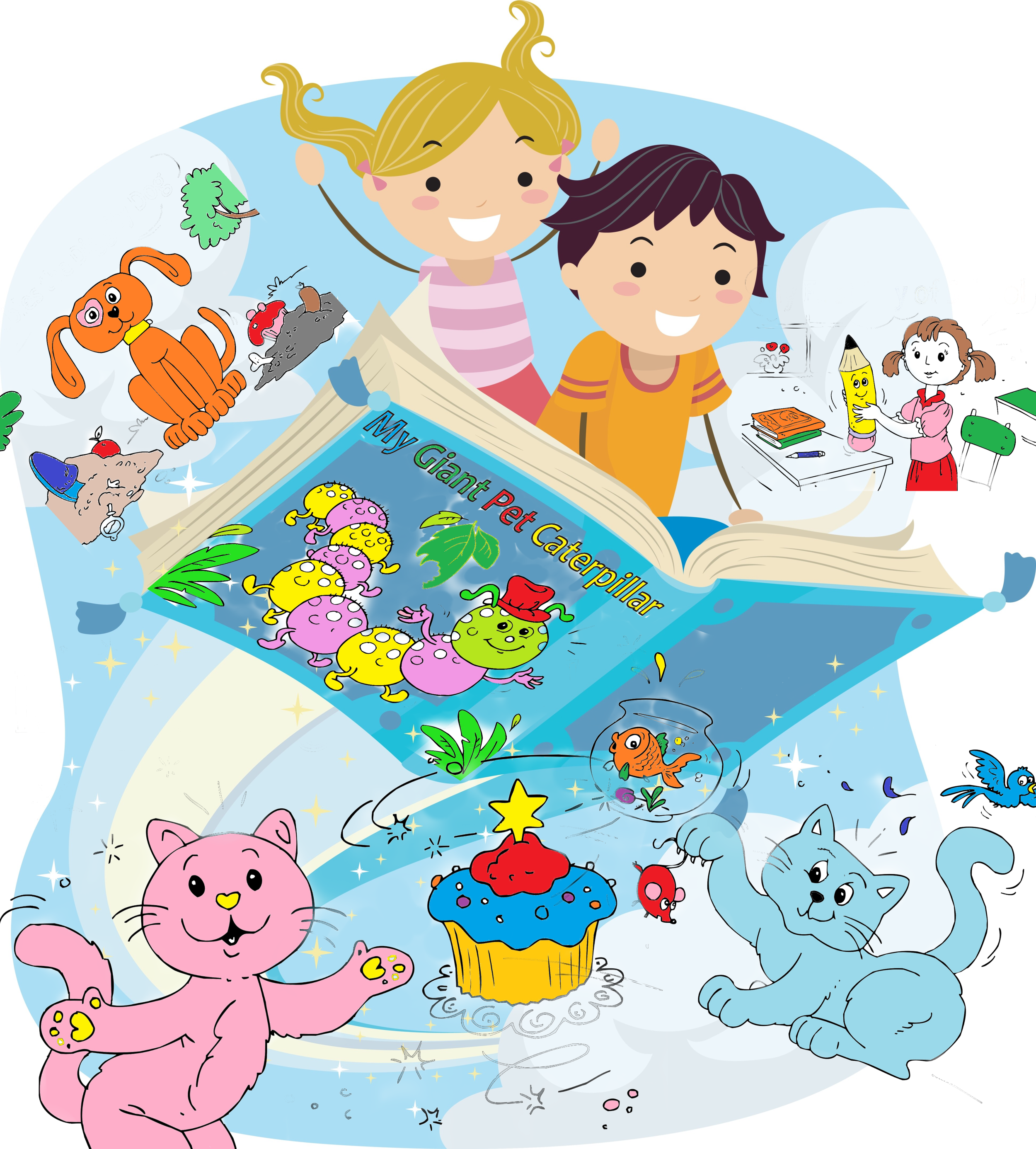 Coloring Storybooks - Printable bedtime coloring storybooks for kids! The story pages are coloring pages so children can color and design their own storybook.