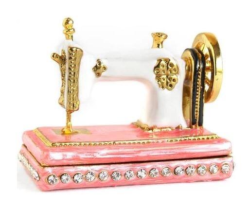Rhinestone Sewing Machine Trinket Box.JPG