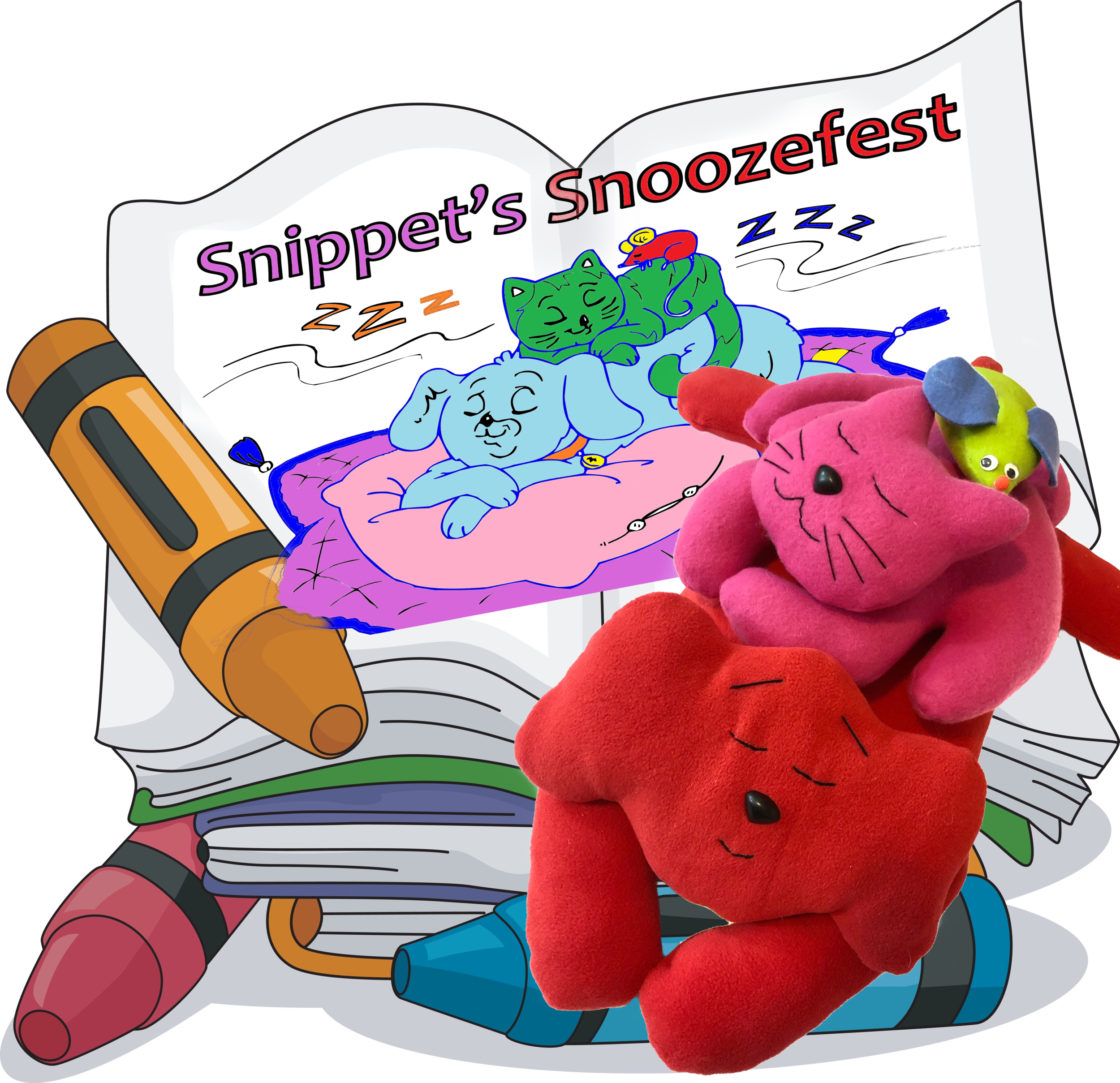 Snippet's Snoozefest - Animal patterns & coloring storybook