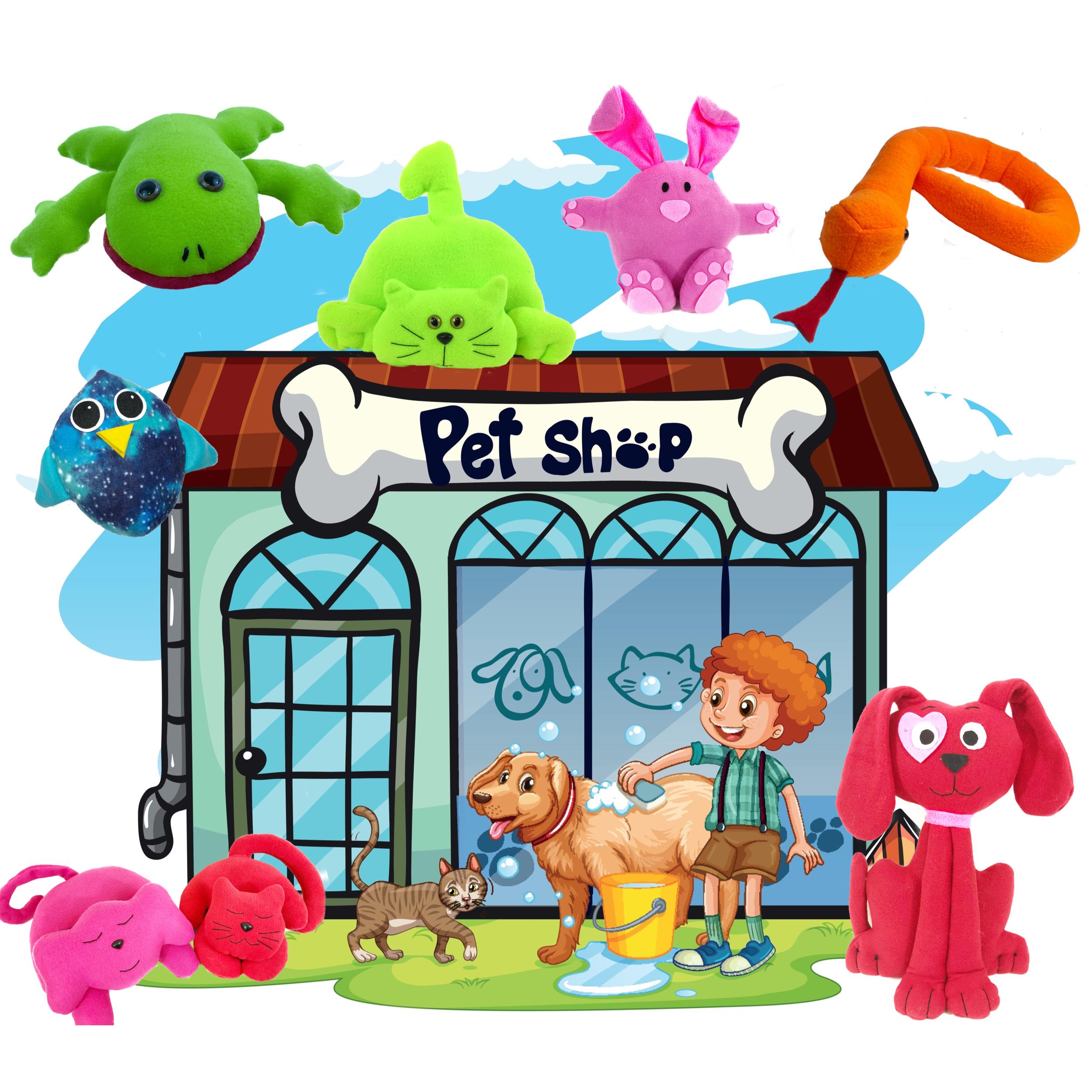 DIY Pet Shop - Pet shop stuffed animal patterns
