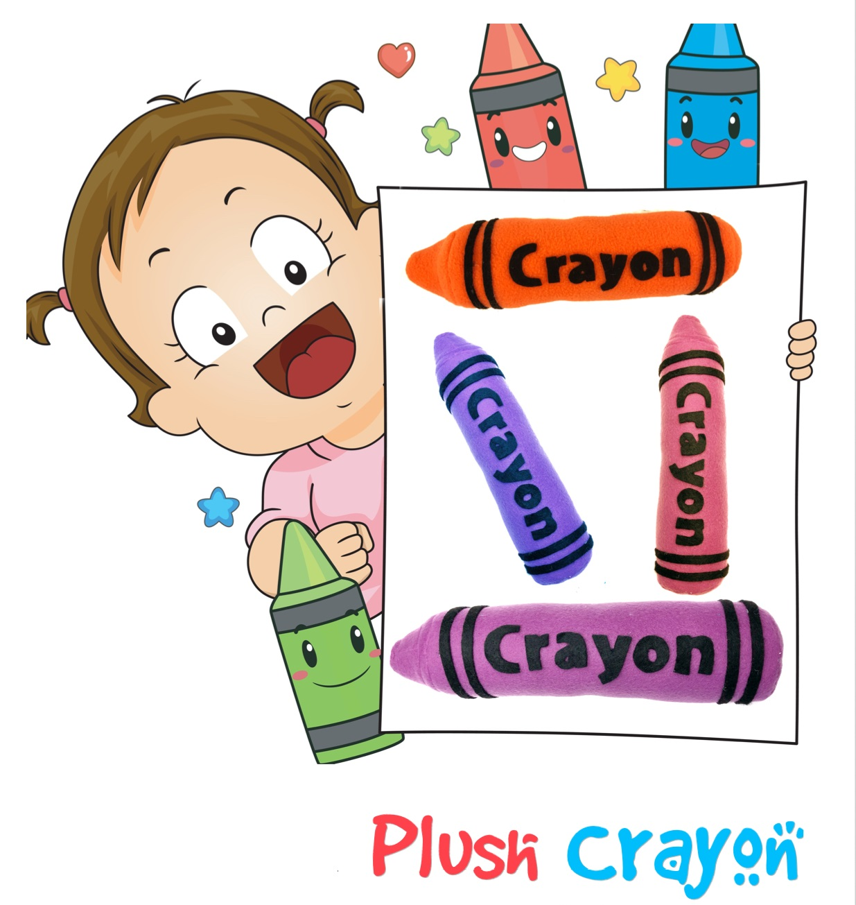 """Life is about using the whole box of crayons! - Crayon patterns available in 12"""", 20"""" and 36"""" sizes."""