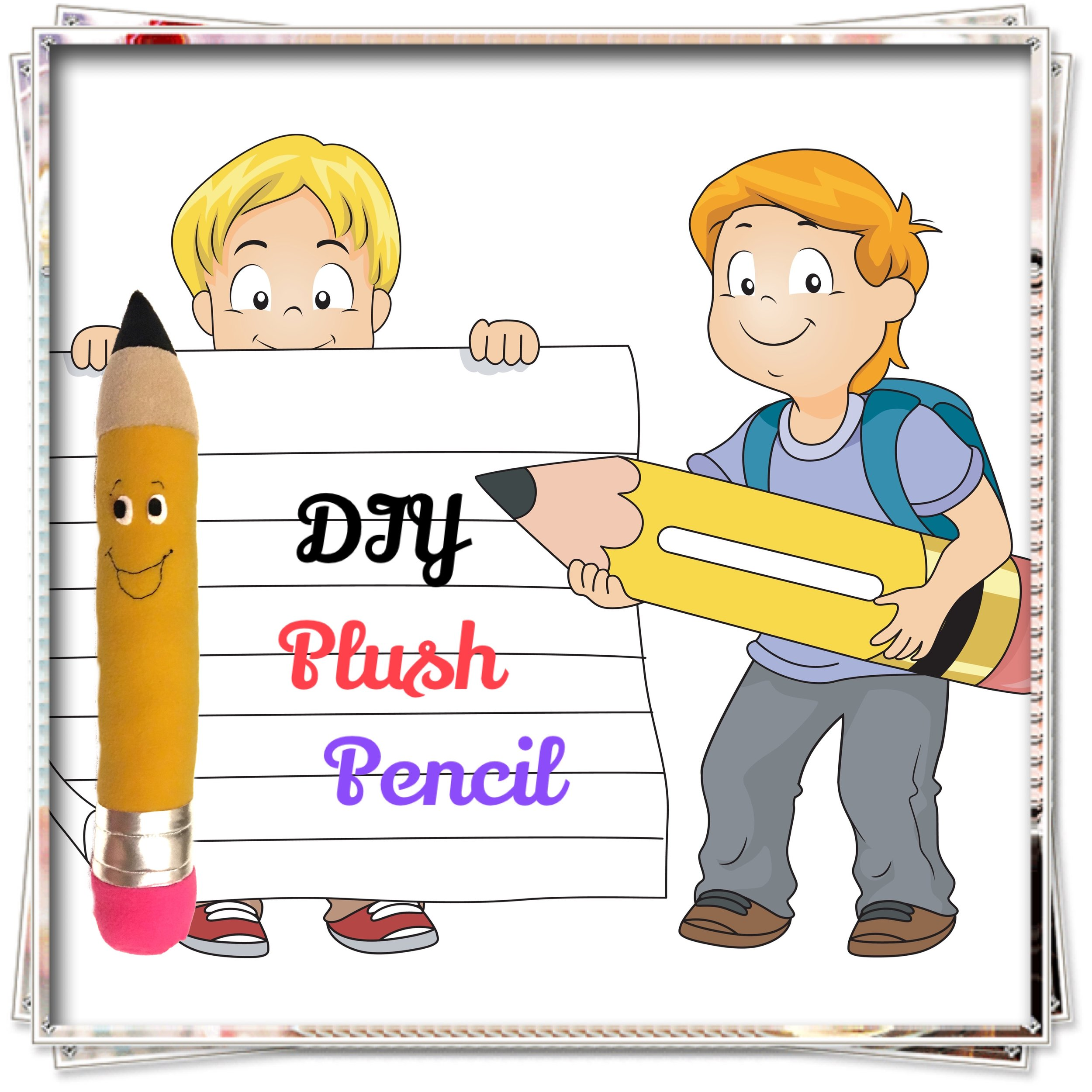 DIY Plush Pencil - Cute kids room decor!