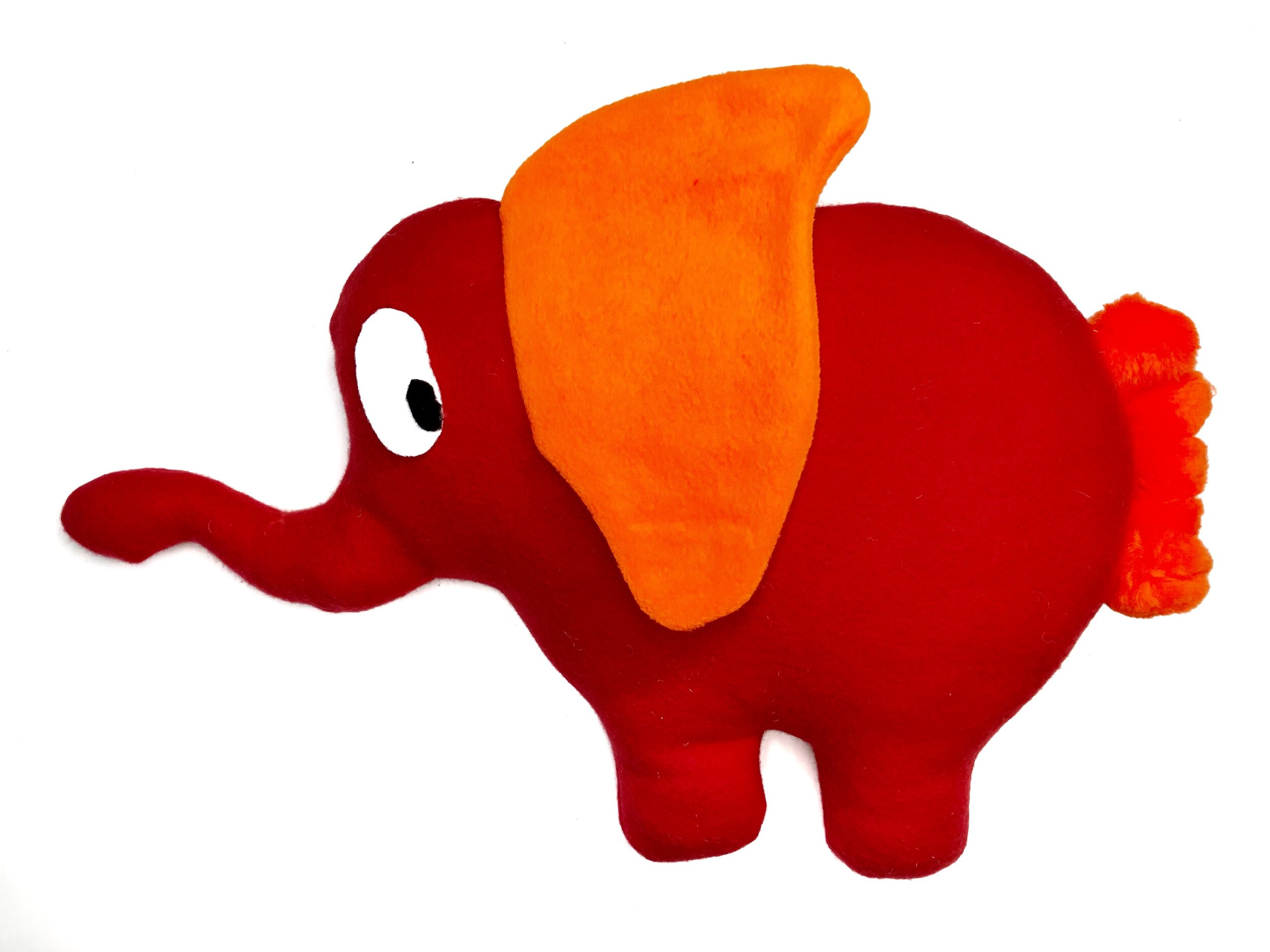 DIY Elephant Pillow - Free elephant template