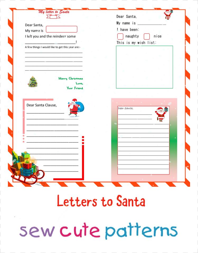 Letters to Santa - Free printable templates