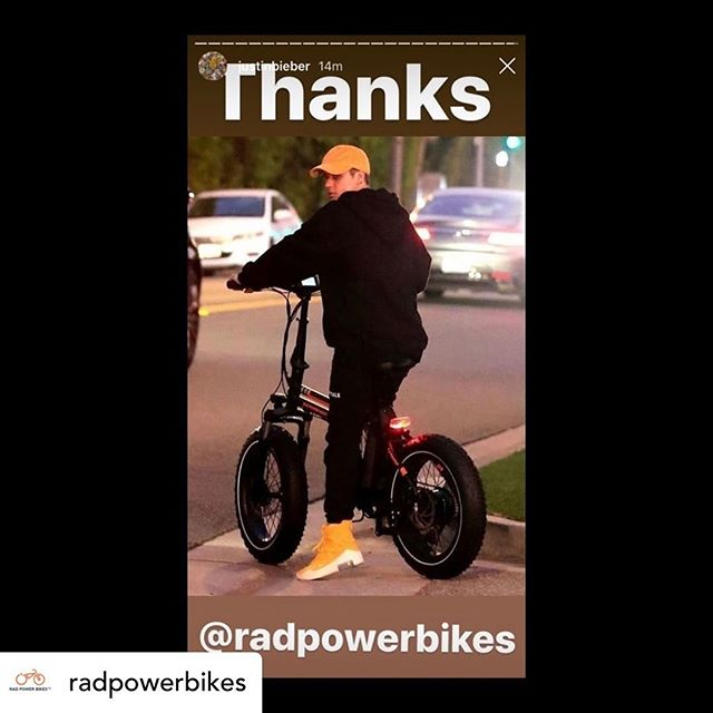 Even Justin Bieber rides #radpowerbikes #radmini