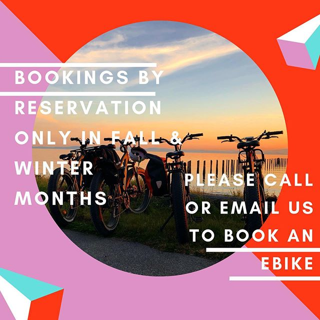 Stoked will be offering eBike Rentals by reservation only for the Fall & Winter months. Please email or call to book!
