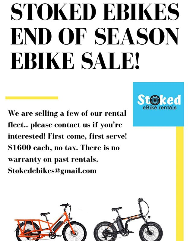 We have two bikes for sale, a Rad Mini (folds up, great for a boat or to fit in an RV) & a Rad Wagon, which fits kids on the back!