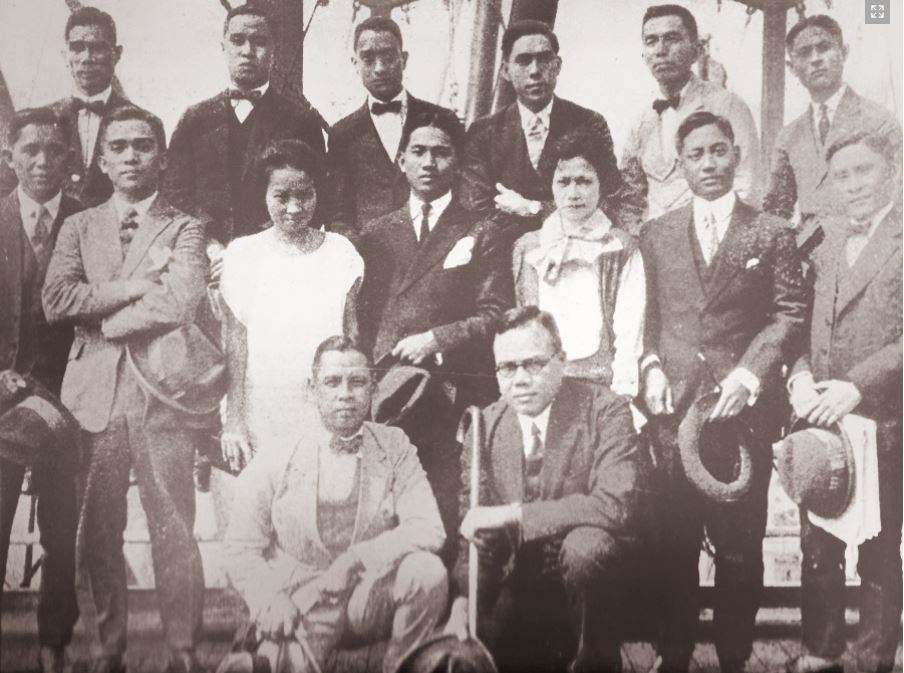Pensionados on way to U.S. ca 1920