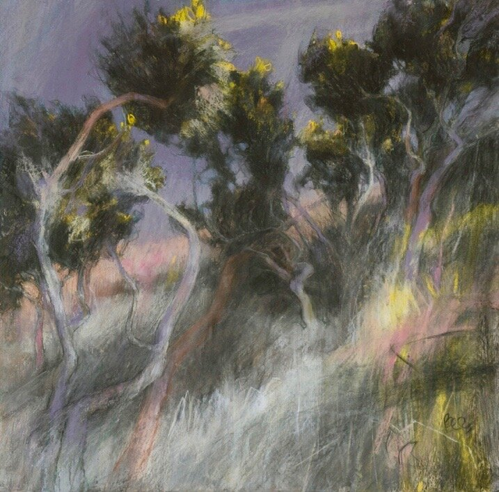 Backs to the Wind 59 x59 cms pastel with acrylic Sarah Bee PS 1lowres Br2.jpg