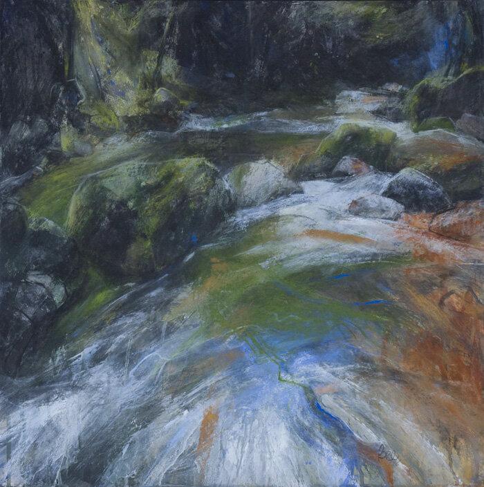 S Bee River Plym Dartmoor pastel with acrylic 59x59cms Br.DSC_low0139 2 copy.jpg
