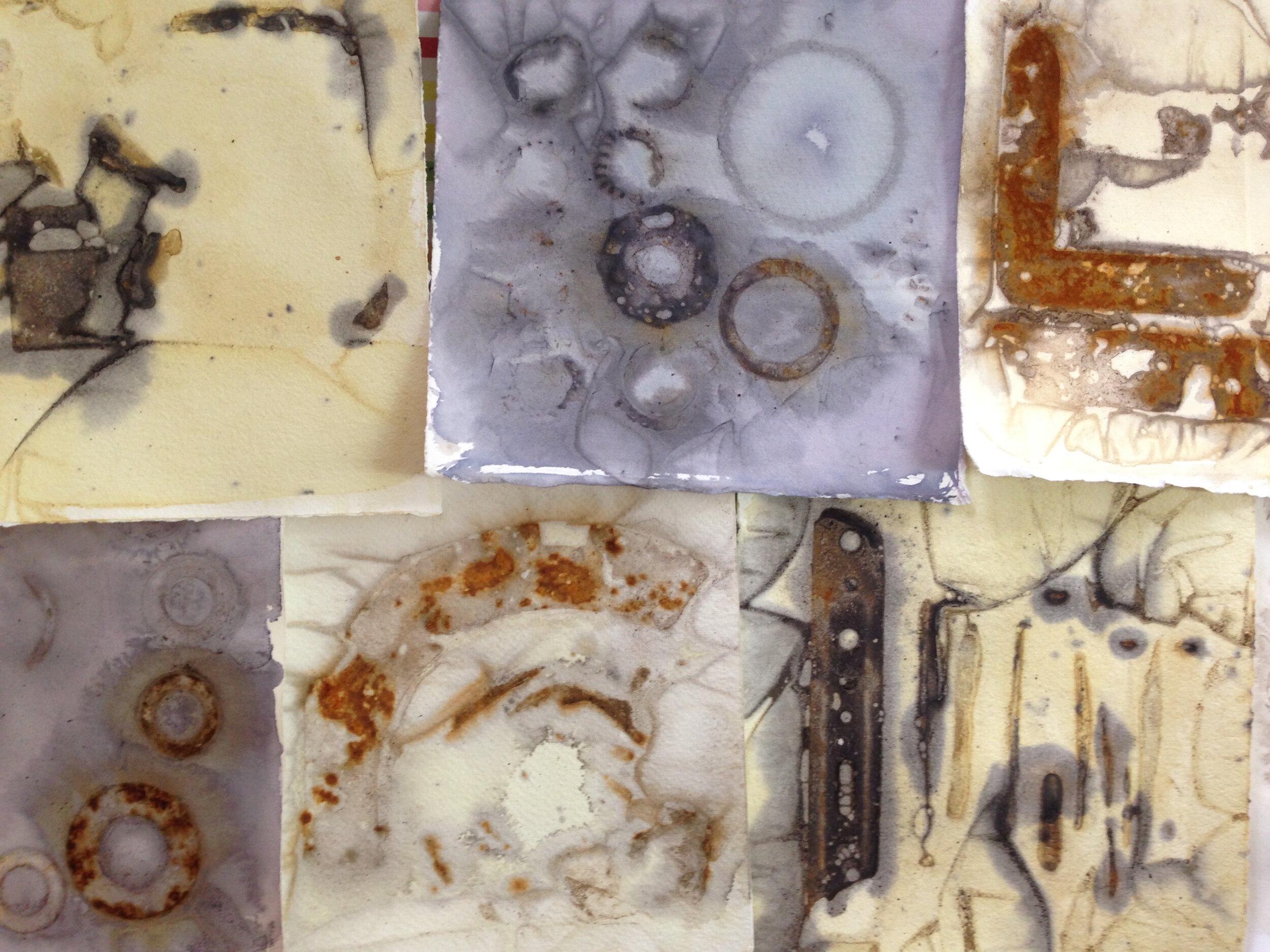 Alice Fox Rust Marks workshop samples.jpg