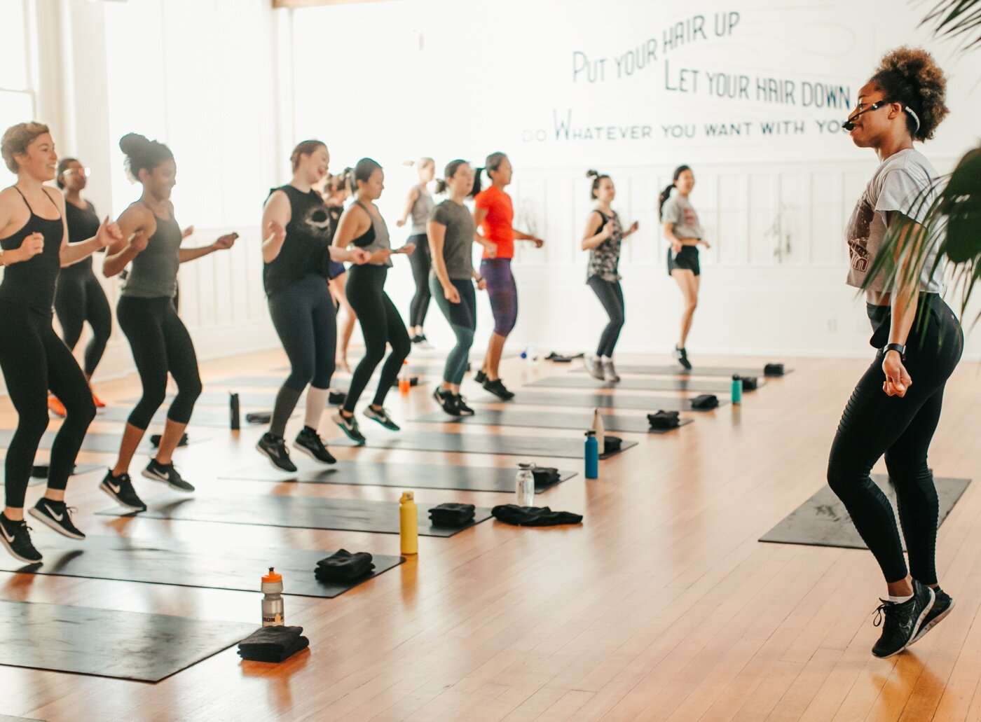 Book a class or event - Check out the public schedule for some opportunities to move your body or learn something new. If you can see it, you can book it.