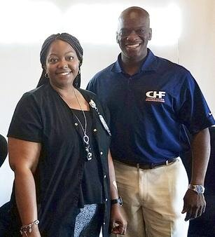 Cheryl Ferguson, LMSW, of Quality of Life for All Kids, and CHF Founder Chris Hope