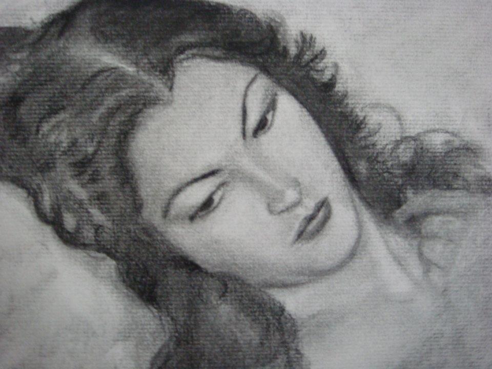'Femme' - fusain d'après l'oeuvre de A. Opisso