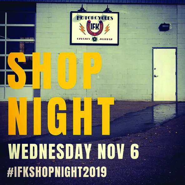 - Do you miss Bike Nights as much as we do? Well let's get the crew together this coming Wednesday for a IFK Shop Night. Grub and drinks will be available, come and catch up on what's happening, winter projects and have some fun! (Kids are always welcome).Shop Night starts 6:30, Ends 9:30..#yyc #yycnow #yycevents #yycshop #yycshoplocal #yycbusiness #yycmotorcycle #yycmotorcycleriders #yycriders #bikenight #yycbikenight #ifkbikenight #ifkbikenight2019 #conelickersmc #clmc #ifkshopnight #ifkshopnight2019