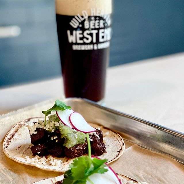 Taco'n bout some tacos. It's national made up holiday day today, but it's always Taco Tuesday here. Barbacoa / raw verde / cotija / radish / cilantro. Along with @wildheaveneric newest magic, Dark helmet. May the Schwartz be with you. Go plaid and y'all get here