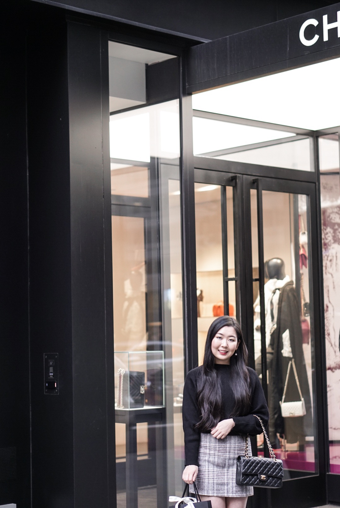 Outside the 15 E 57th St Chanel Boutique in New York City