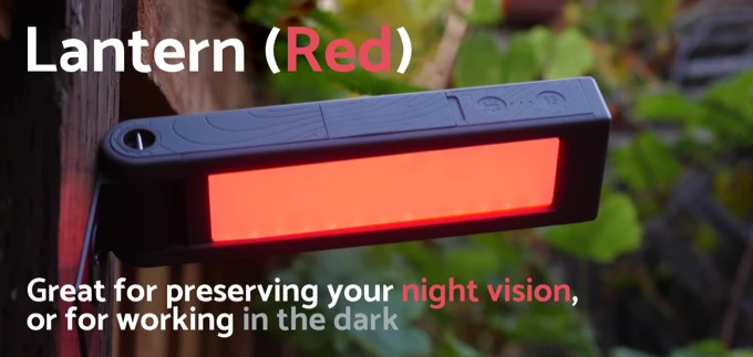 solar lantern night vision with red light