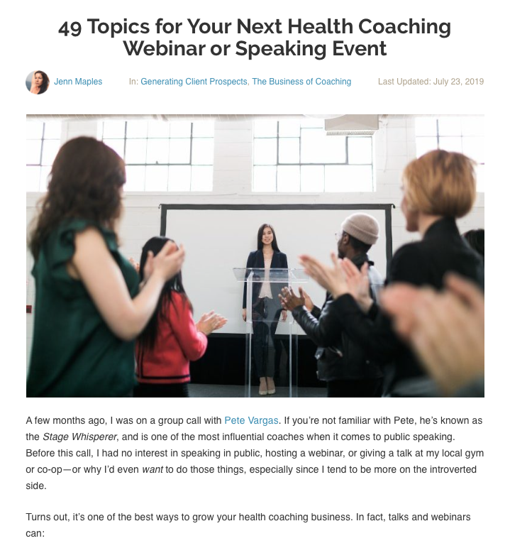 Featured on the Primal Health Coach Institute Blog, 2019  Read full post