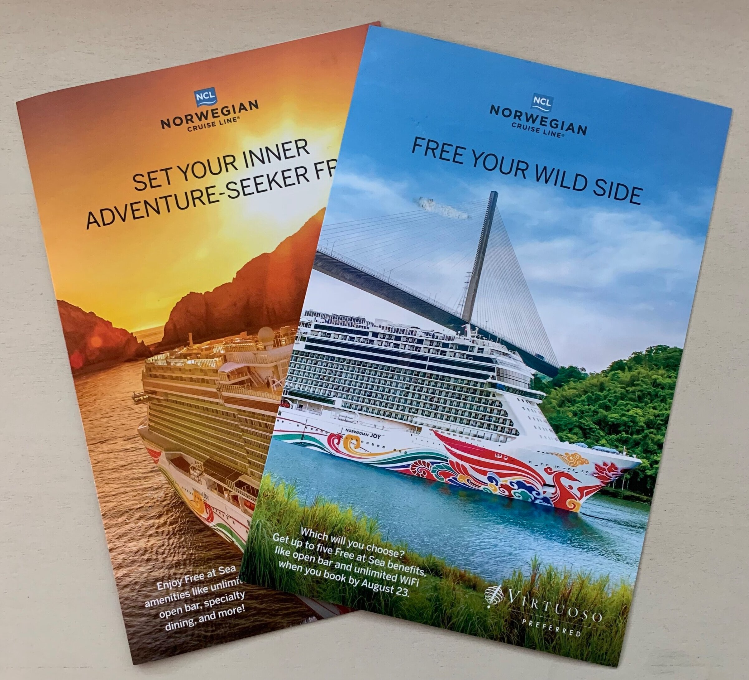 Client: Virtuoso in partnership with Norwegian Cruise Line; Direct Mail, 2019