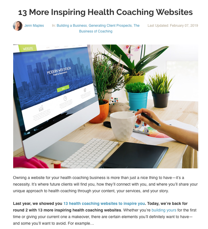 Featured on the Primal Health Coach Institute Blog, 2019  Real full post