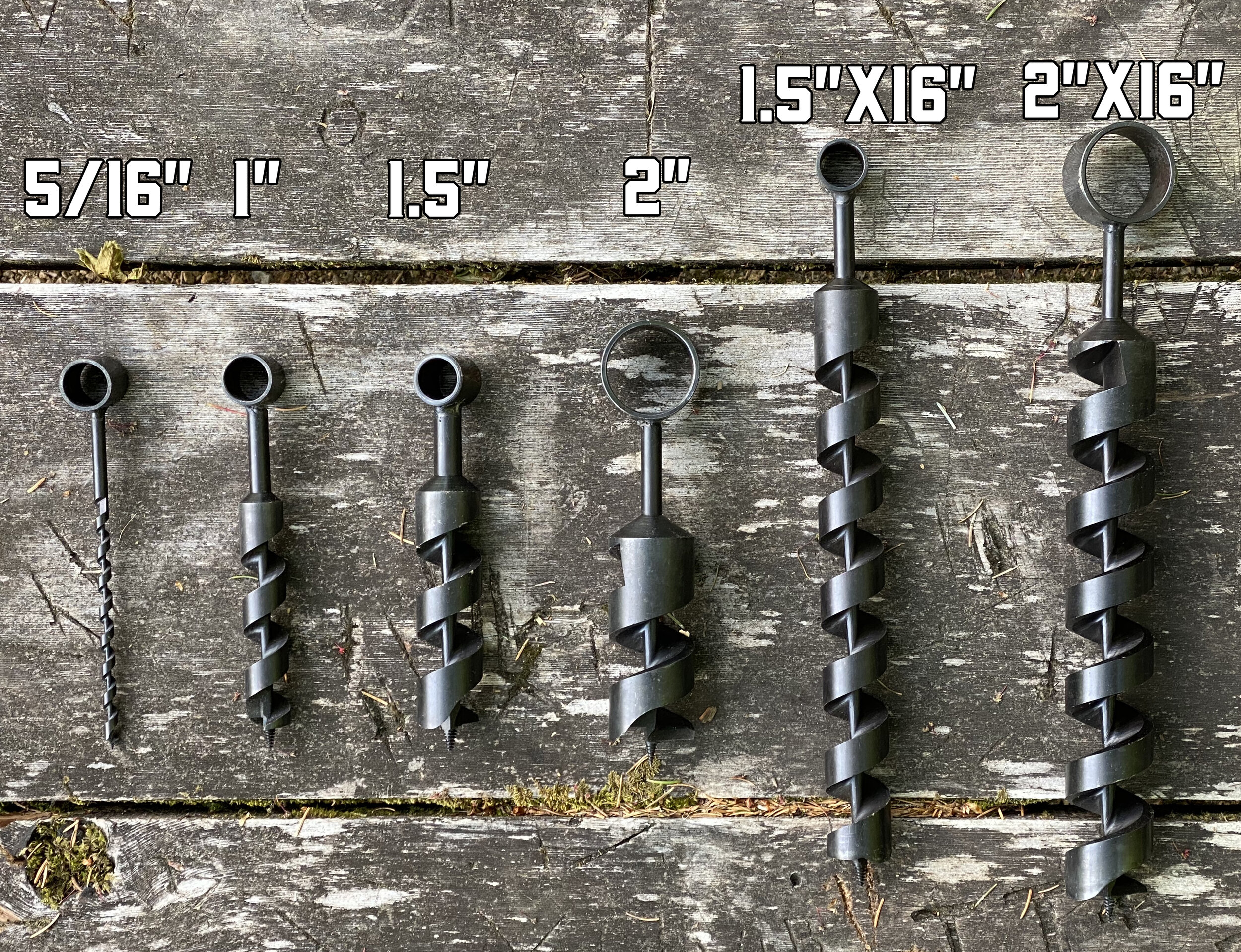 """CRIZTA 1/"""" x 12/"""" Scotch Eye Wood Auger Drill Bit Hand Auger for Bushcraft Backpack and Camping Perfect Addition Tool to Survival and Camping Gear Packs"""