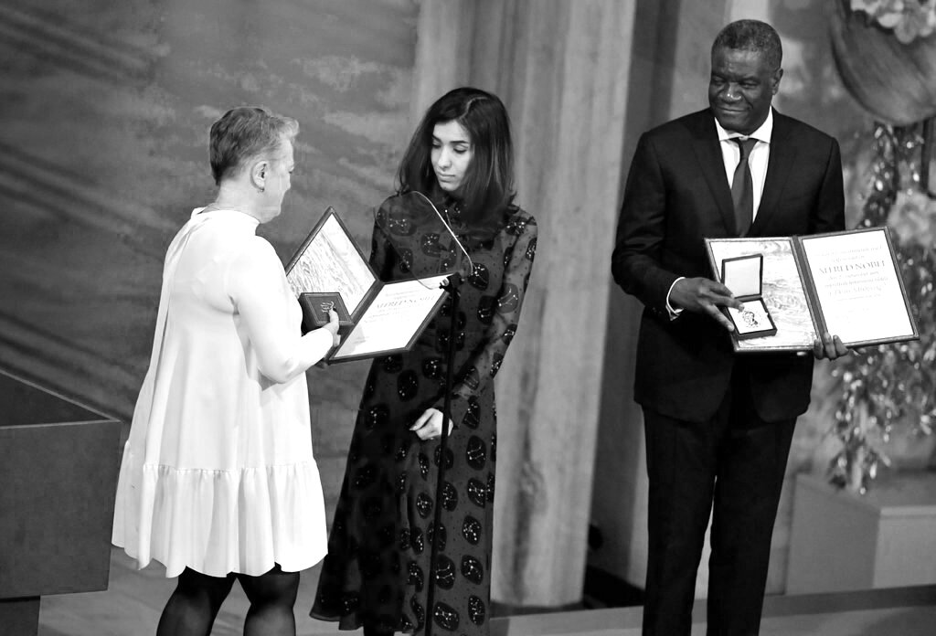 Nadia Murad 2018 Nobel Peace Prize Ceremony.