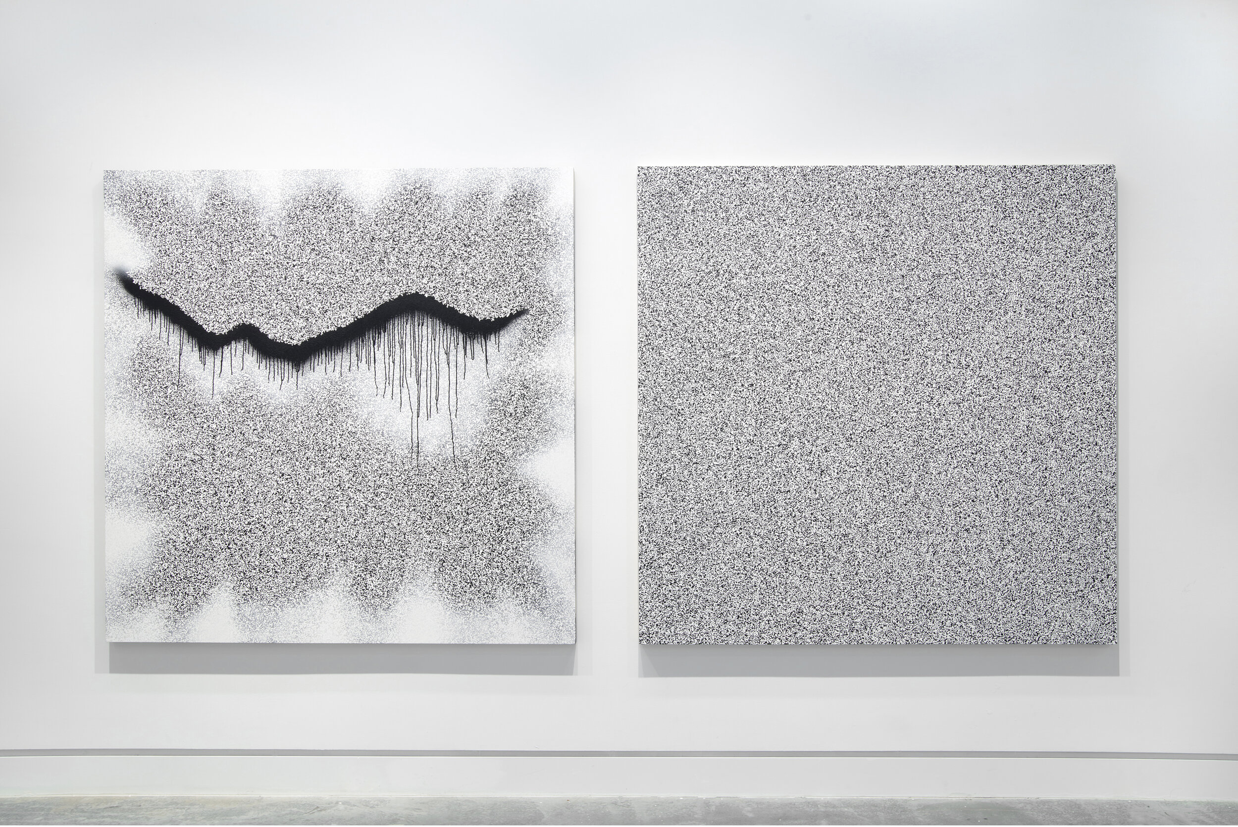 """Michael Edward Miller  """"I've lost control again…"""" , 2019, spray paint and gesso on panel (72"""" x 72"""") x 2"""