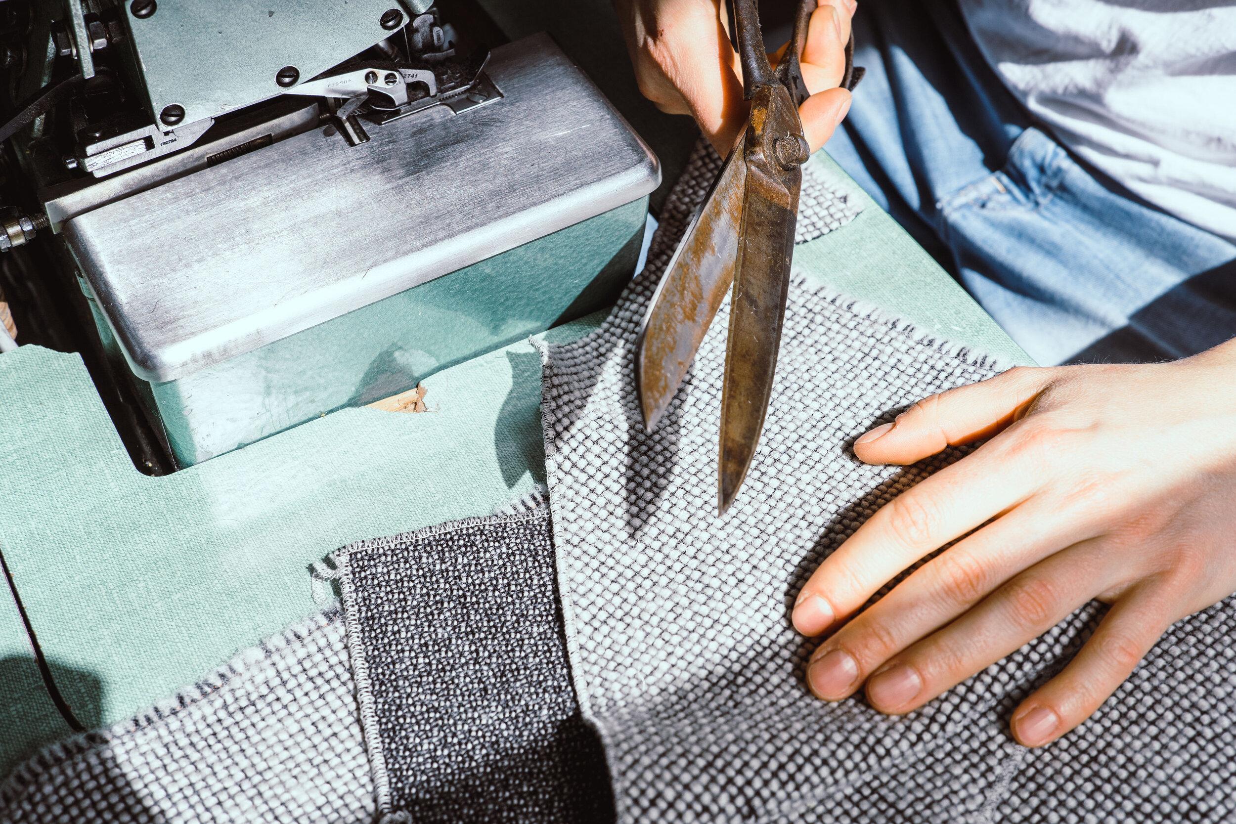 Besitzbar Werkstatt Workshop Schere Stoff Upholstery fabric
