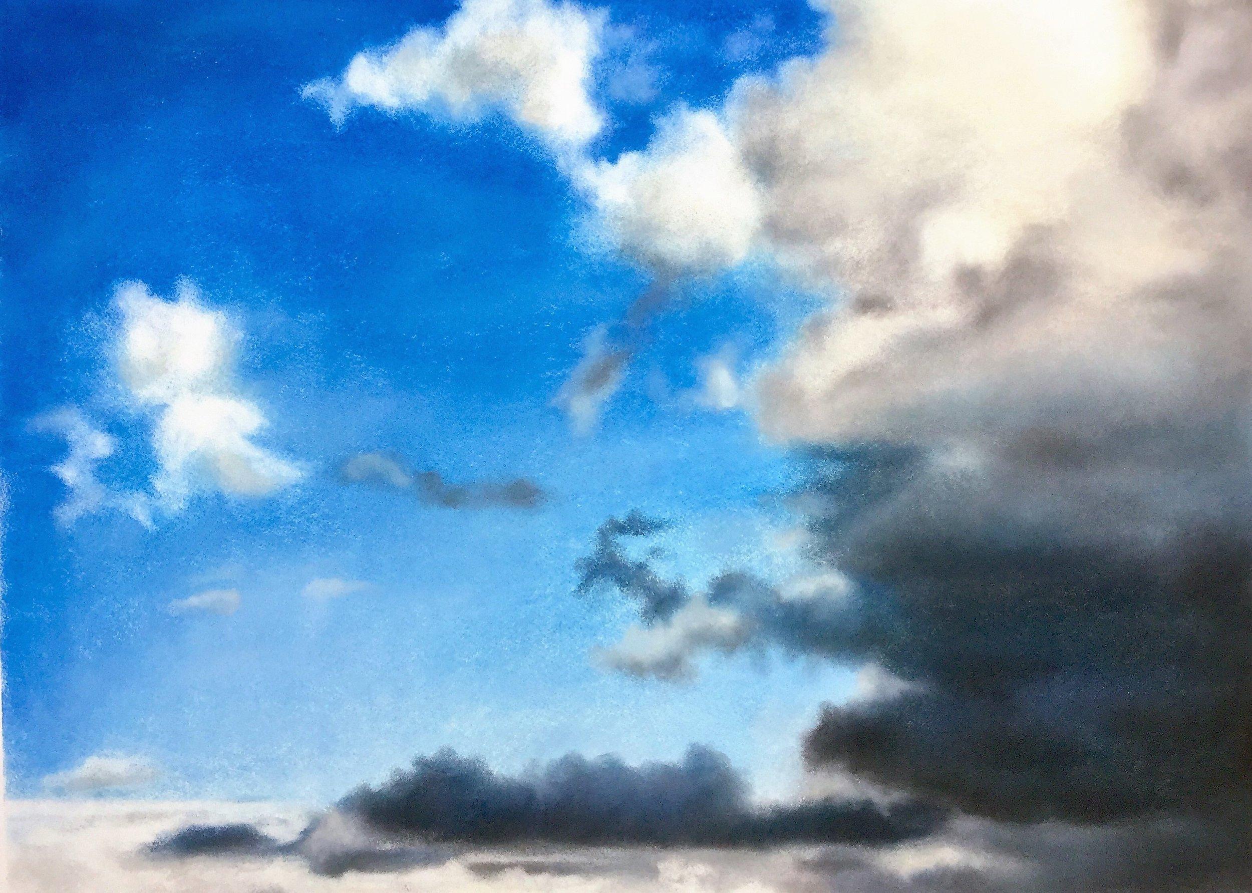 Clouds Gathering, pastel