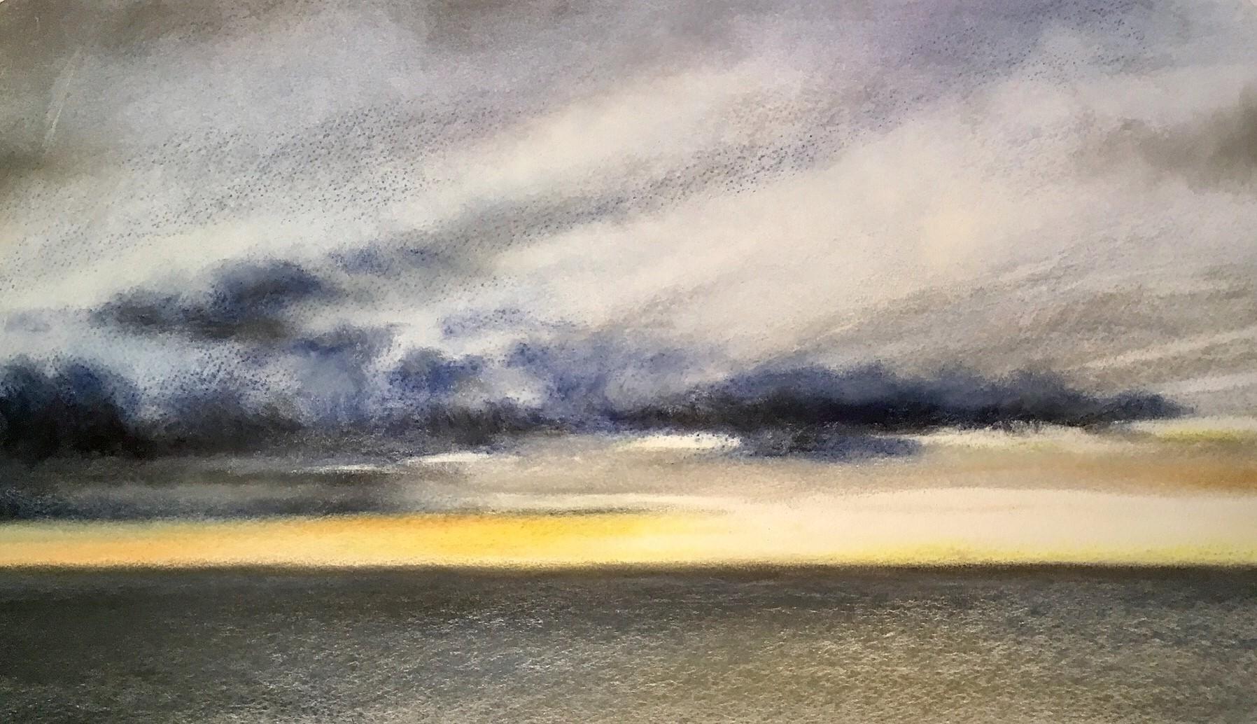 Sunset, Plymouth Sound, pastel